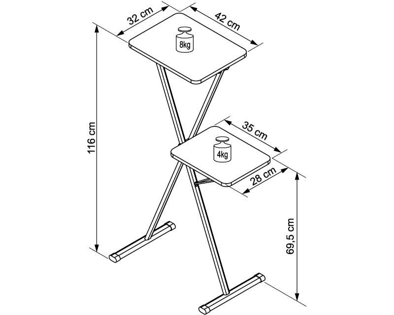 VEGA                           AVX 12B stalak za projektor