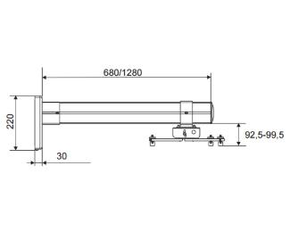 VEGA                           WMC 70 zidni nosač za Ultra Short Throw projektor