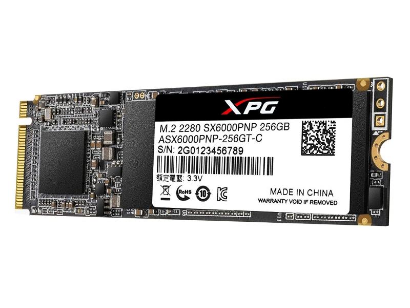 A-DATA                         256GB M.2 PCIe Gen 3 x4 NVMe ASX6000PNP-256GT-C SSD