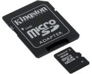 KINGSTON                       MicroSDHC 16GB class 4 + adapter SDC4/16GB