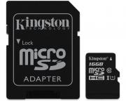 KINGSTON                       UHS-I MicroSDHC 16GB 80R class 10 SDCS/16GB + adapter