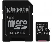 KINGSTON                       UHS-I MicroSDXC 64GB 80R class 10 SDCS/64GB + adapter