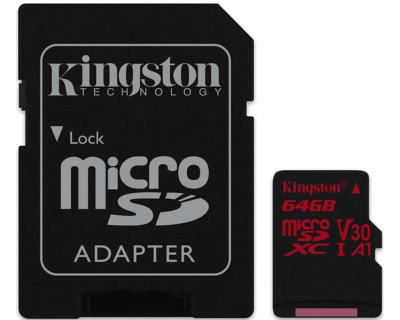 KINGSTON                       UHS-I U3 MicroSDXC 64GB V30+ Adapter SDCR/64GB React
