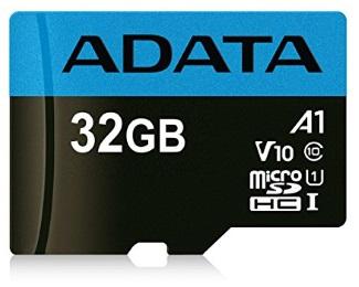 A-DATA                         UHS-I MicroSDHC 32GB class 10 + adapter AUSDH32GUICL10A1-RA1