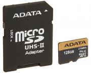 A-DATA                         UHS-II U3 MicroSDXC 128GB class 10 + adapter AUSDX128GUII3CL10-CA1
