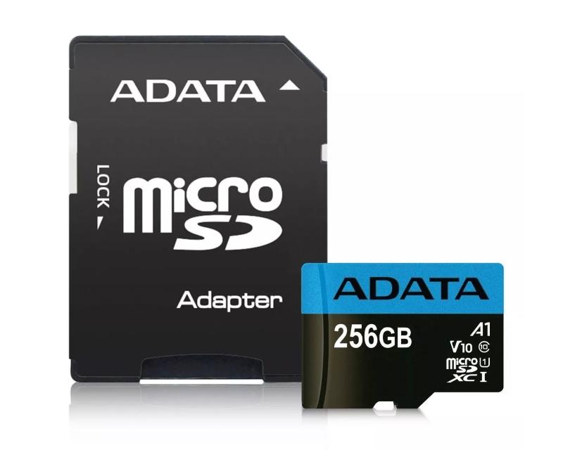 A-DATA                         UHS-I MicroSDXC 256GB class 10 + adapter AUSDX256GUICL10A1-RA1