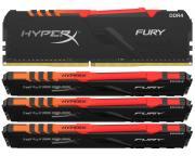 KINGSTON                       DIMM DDR4 64GB (4x16GB kit) 3600MHz HX436C17FB3AK4/64 HyperX Fury RGB