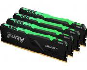 KINGSTON                       DIMM DDR4 128GB (4x32GB kit) 3600MHz KF436C18BBAK4/128  Fury Beast RGB