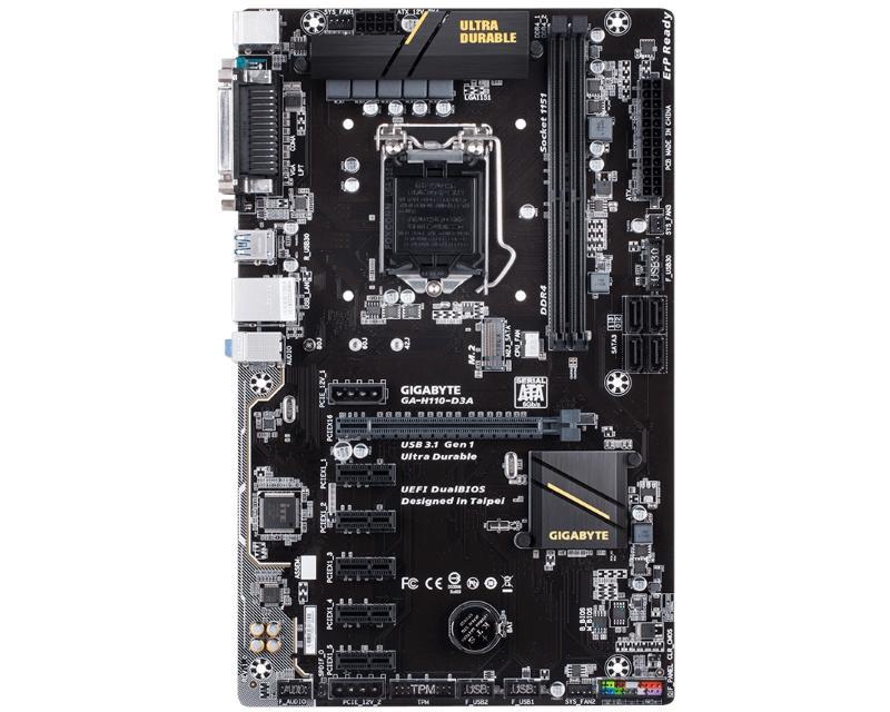 GIGABYTE                       GA-H110-D3A + Intel Pentium G4560 2-Core 3.5GHz