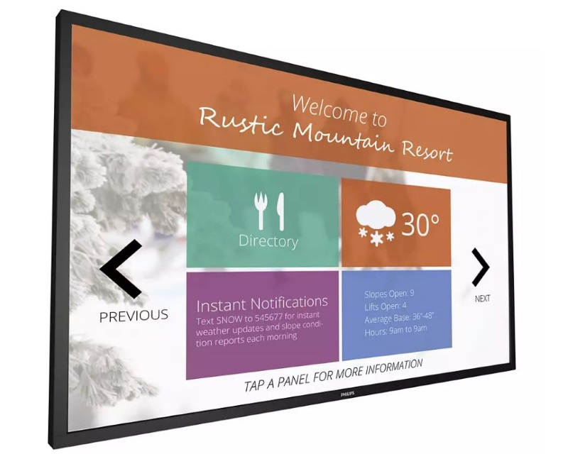 """PHILIPS                        55"""" 55BDL4051T/00 Signage Solutions Multi-Touch Full HD Display Android"""