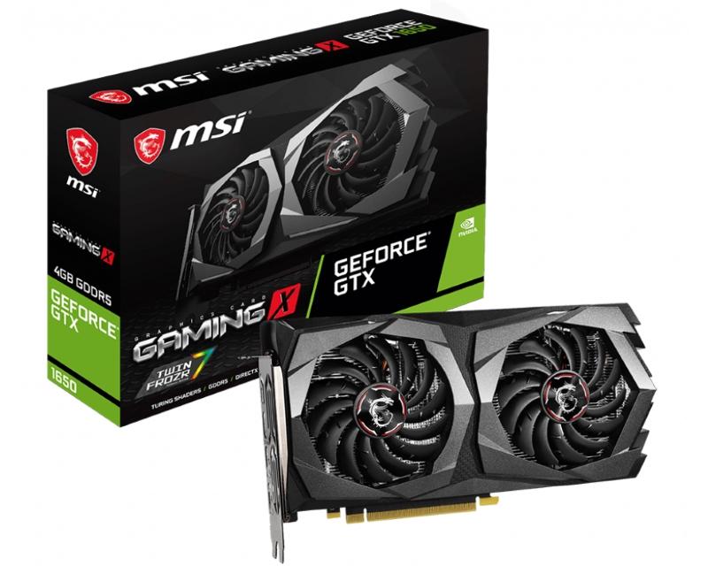 MSI                            nVidia GeForce GTX 1650 4GB 128bit GTX 1650 GAMING X 4G